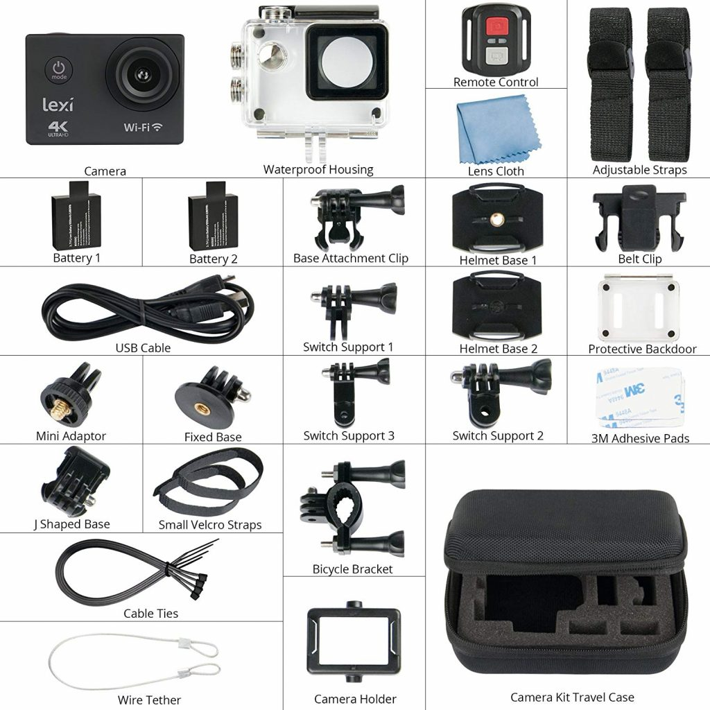 Action Camera many accessories