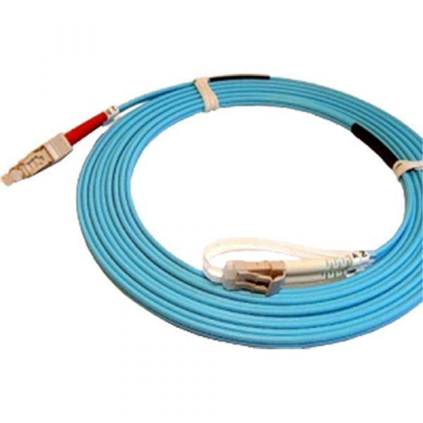 LC-SC 50/125 Duplex Multimode (OM4) Fibre Lead Aqua Blue LC-SC 15m